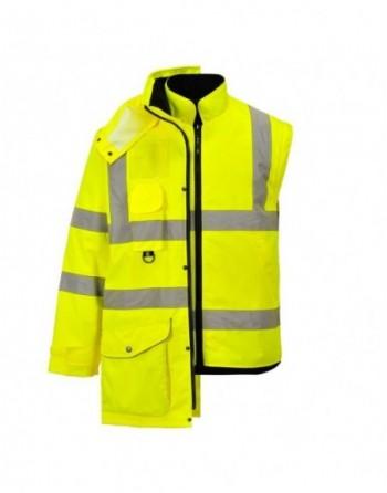 Kurtka ostrzegawcza 7w1 S427 Portwest zimowa, wodoodporna, plamoodporna