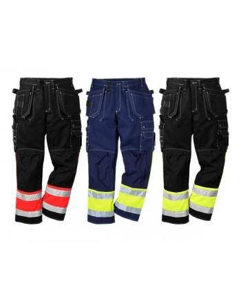 Mocne spodnie robocze bawełniane ostrzegawcze Hi-Vis 247 FAS Fristads 100279