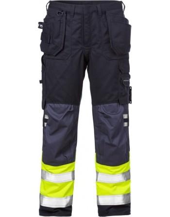 Spodnie trudnopalne, antyelektrostatyczne, ostrzegawcze Craftsman multinorm zgodne z dyrektywą ATEX 2074 ATHS Fristads 109417